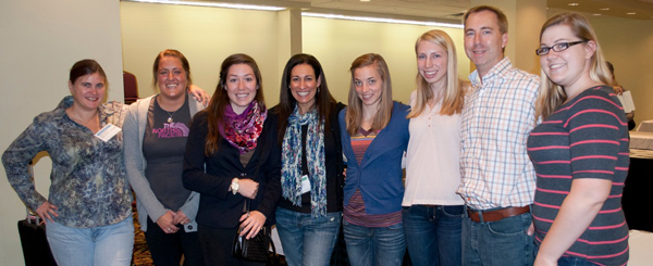 photo of UT art students at the SPE Conference