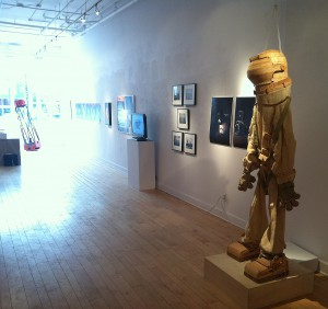 Installation view of First Contact at Gallery Project in Ann Arbor