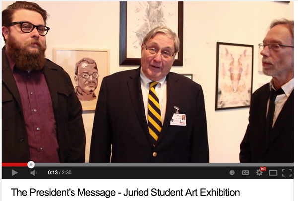 UT President Lloyd Jacobs delivers President's Message from the 2014 Juried Student Exhibition