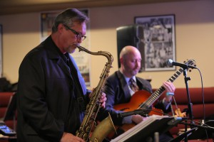 UT Jazz Faculty Gunnar Mossblad and Norm Damschroder perform in Crystal's Lounge with the faculty group CrossCurrents
