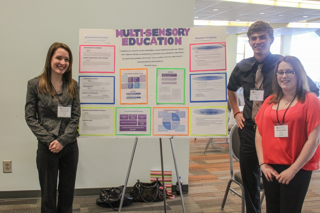 Alexandria Lemerand, Rachel Koepke, and Luke Ferrell present on Multi-Sensory Education