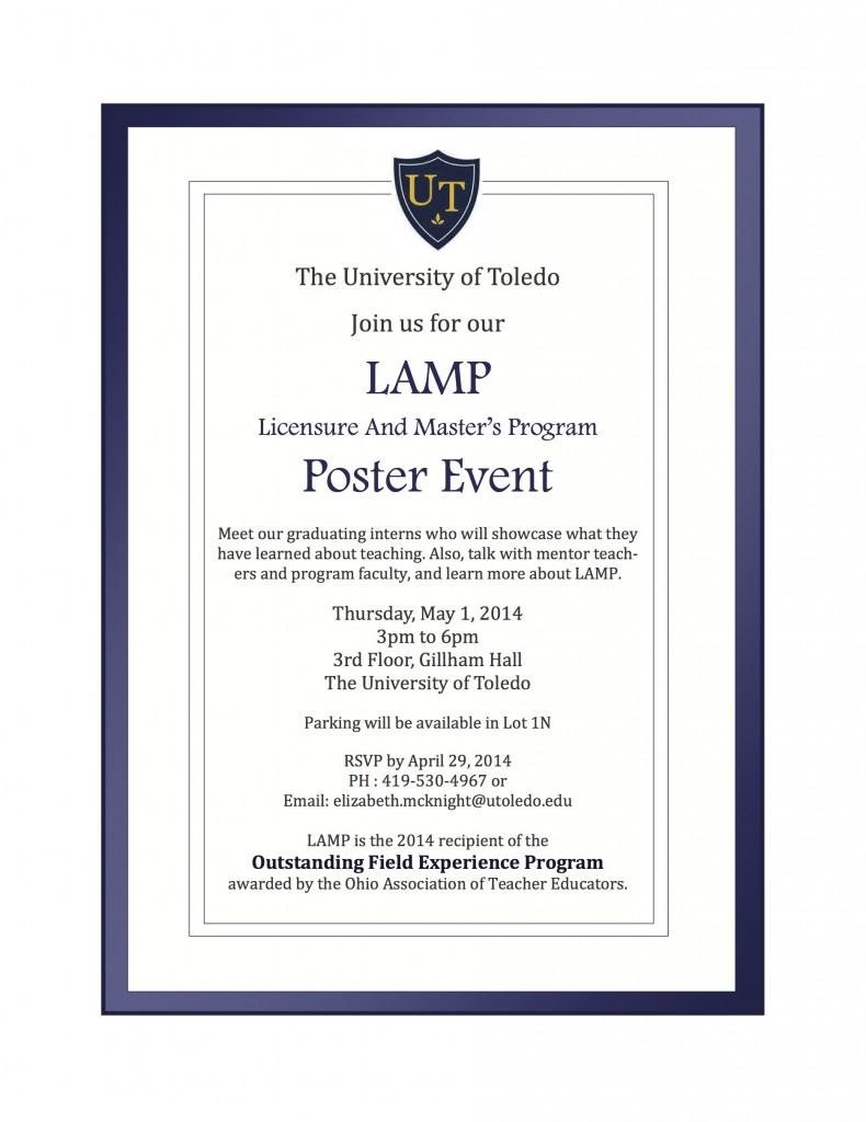 LAMP poster event invitation