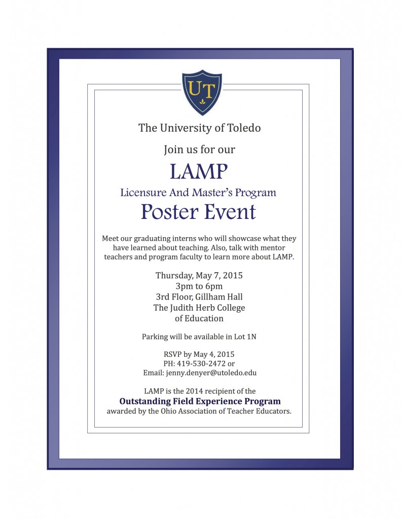 LAMP poster event invitation 2015