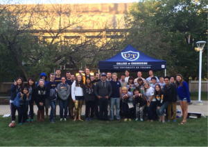 UTEC Hosted a tailgate for visiting Kagawa University students