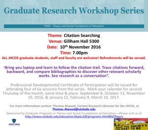 Graduate Research Workshop Series