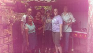 The Team visits a Corpus Christi scholarship recipient and her mother at their home.