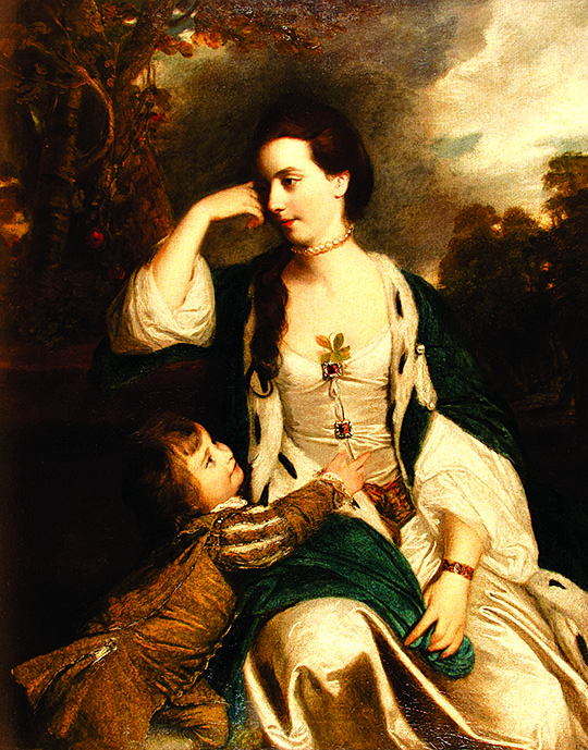 Image of the painting of Henrietta Catherine Cholmley and Son by Sir Joshua Reynolds